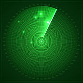 Green radar screen — Vector de stock