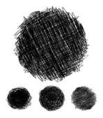 Lápiz dibujado círculos burbujas — Vector de stock