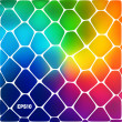 Abstract background of colored cells — Vector de stock