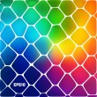 Abstract background of colored cells — Stockvektor