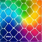 彩色单元格的抽象背景 — 图库矢量图片