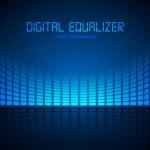 Dijital ekolayzır — Stok Vektör