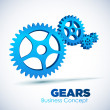 3D glossy Gears. Business, Teamwork concept. — Stockvector #23865473