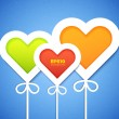 Heart applique background — Imagen vectorial