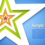 Star applique background — Stock Vector