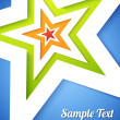 Star applique background — Stock vektor