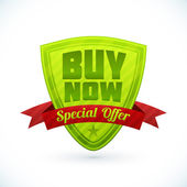 Badge Buy now - Special Offer — Stockvector