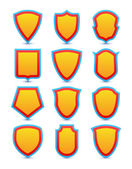 Set of shield icons, symbols and signs — Stock Vector