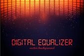 Ecualizador digital — Vector de stock