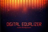 Equalizzatore digitale — Vettoriale Stock