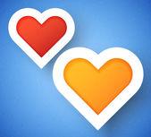 Sfondo di cuore applique — Vettoriale Stock
