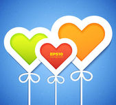 Heart applique background — Wektor stockowy