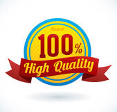 """Vector """"High Quality"""" Badge for your business artwork — Vector de stock"""