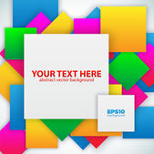 Colorful paper with space for text — Stock Vector