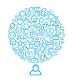 Sociale media achtergrond — Stockvector