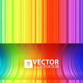 Rainbow Lines Background — Stock Vector