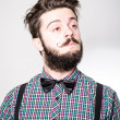 Young bearded hipster man — Stock Photo
