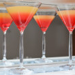 Tequila sunrise alcohol cocktail — Stock Photo