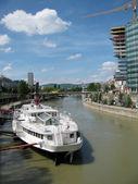 River panorama (Vienna, Austria) — Stockfoto