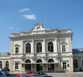 Railroad station to Przemysl (Poland) — Stock Photo