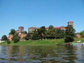 Panorama of Wawel in Krakow (Poland) — Stock Photo