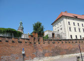 Fortress wall Vavel (Krakow, Poland) — Stock Photo