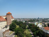 Panorama of Vavel (Krakow, Poland) from height of bird's flight — Stock Photo