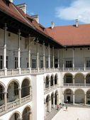 Renaissance yard in the Wawel palace ( Krakow, Poland) — Foto Stock