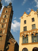 St. Mary Church in Krakow (Poland) — Foto de Stock