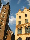 St. Mary Church in Krakow (Poland) — Stok fotoğraf