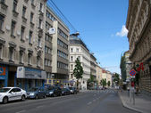 Street in the historical center of Vienna — Stock Photo