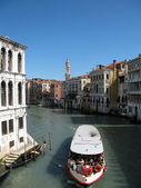 View of Venice channel (Italy) — Stockfoto