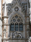 Window of the Patriarchal Cathedral Basilica of Saint Mark (Venice, Italy) — Stock Photo