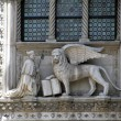 Stock Photo: Lion of Saint Mark at Patriarchal Cathedral Basilicof Saint Mark in Venice (Italy)