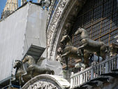 Horses of Saint Mark, also known as the Triumphal Quadriga in Venice (Italy) — Foto Stock