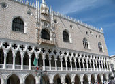 Facade of Venice Doges palace in Italy — Stock Photo