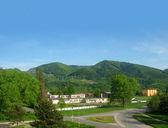 The mountain village in Slovakia — Stock Photo