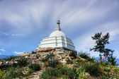Stupa of Enlightenment on the island Ogoy — Stock Photo