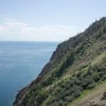 Cape Khoboy, the north point of Olkhon Island, lake Baikal, Russia — Stock Photo