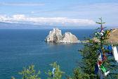 Shamanka Rock, lake Baikal, Russia — Stock Photo