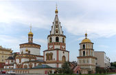 Ortodox Church in Irkutsk, Russia — Stock Photo