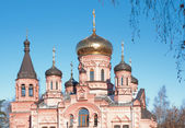 Ortodox Church of Elijah Prophetin in Izvarino, Russia — Stock Photo