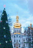 New year tree and Uspensky Cathedral — Stock Photo