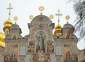Fasade of Uspensky Cathedral Kievo-Pechersk Lavra, Ukraine — Stock Photo