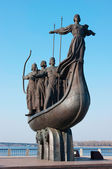 Symbol of Kiev - Kyi, Khoriv, Sheck and sister Lybid — Stock Photo