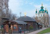 Famous St Andrew Church in Kiev, Ukraine — Stock Photo