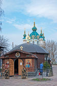 Famous St Andrew Church in Kiev, Ukraine — Stock Photo