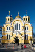 Vladimir Cathedral in Kiev, Ukraine — Stock Photo