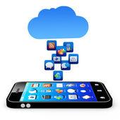 Cloud application — Stock Photo