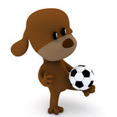 Dog soccer player — Stock Photo